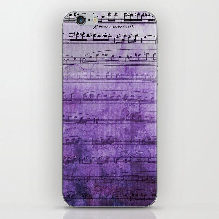 Soft Purple Music iPhone Skin