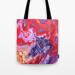 Red and Purple Cosmos Tote Bag