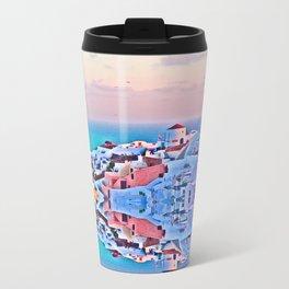 Santorini Metal Travel Mug