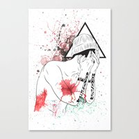 hipster Canvas Prints featuring Hipster by ArDem