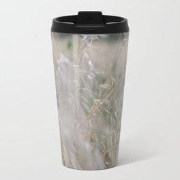 Tall wild grass growing in a meadow Travel Mug