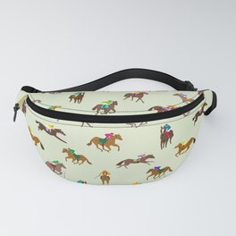 Off to the Horse Races (Mint) Fanny Pack