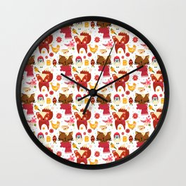 HAPPY ANIMALS Wall Clock