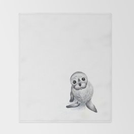 Little Seal Throw Blanket