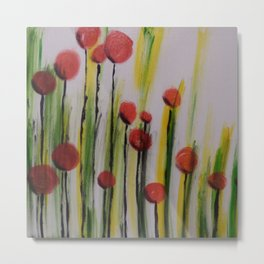 French Poppies Metal Print