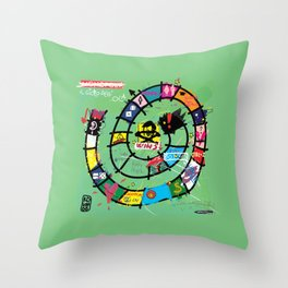 Gioco dell'Oca - The Game of the Goose (RDVM06) Limited Edition Throw Pillow