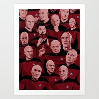 picard Art Prints featuring Picard Day by Brian J. Smith