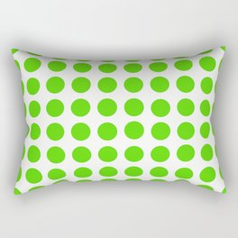 Dots Pattern - Green Rectangular Pillow