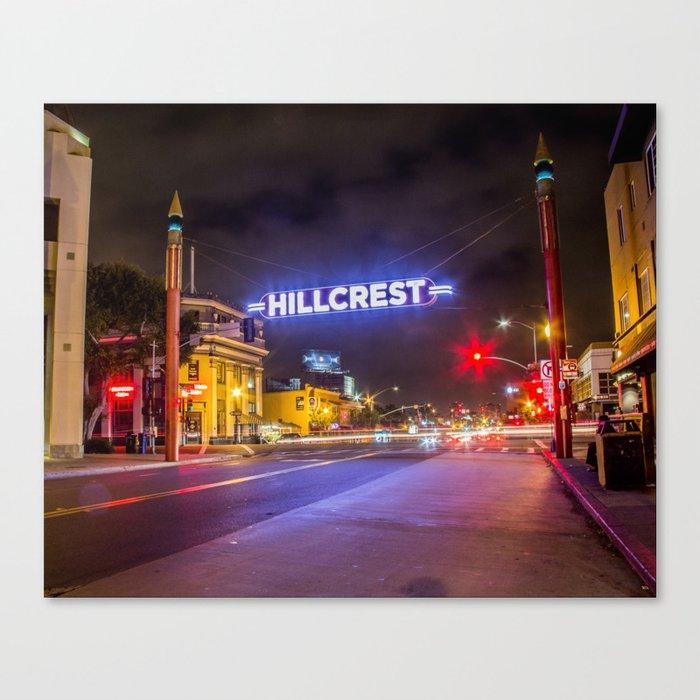Hillcrest (San Diego) Sign - SD Signs Series #3 Leinwanddruck