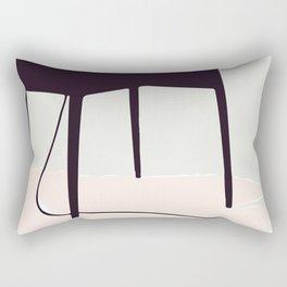 Minimal Table Pink Texture Rectangular Pillow
