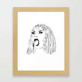 Katya Open Mouth Framed Art Print