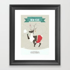 Happy New Year - A New Start to Old Habbits Framed Art Print