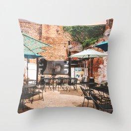 NOLA Dining Courtyard Throw Pillow