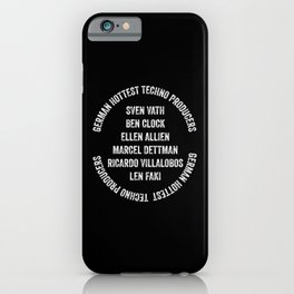 German hottest Techno djs - Designed for Techno lovers iPhone Case