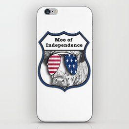 USA Patriotic independence day 4th July Cow iPhone Skin
