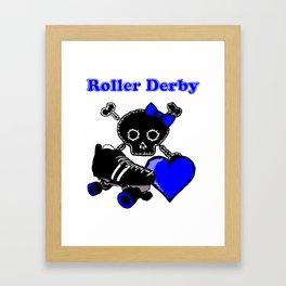 Roller Derby Heart (Blue) Framed Art Print