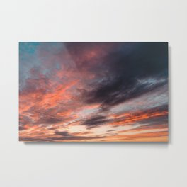 Colourful Sunset Clouds - Anglesey, North Wales Metal Print