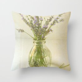 Lavender and Milk Throw Pillow
