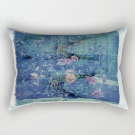Double Exposed Nature Rectangular Pillow