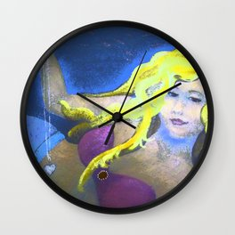 Mysterious Mermaid with Locket Wall Clock