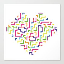 colors of the heart Canvas Print