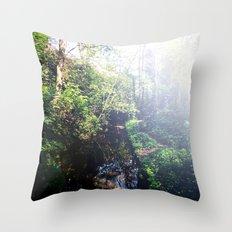 Streaming Sun Throw Pillow