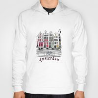 amsterdam Hoodies featuring Amsterdam by Pixelpolly