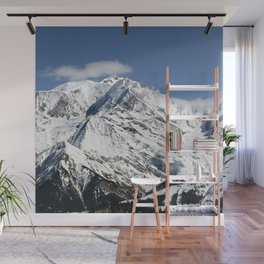 Mt. Blanc with clouds Wall Mural