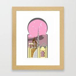 Pink Dubai Framed Art Print