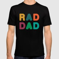 Rad Dad LARGE Mens Fitted Tee Black