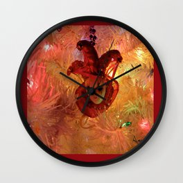 New Orleans Christmas Wall Clock