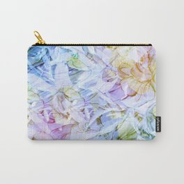 Soft Rainbow Floral Abstract Carry-All Pouch