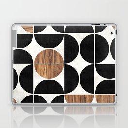 Mid-Century Modern Pattern No.1 - Concrete and Wood Laptop & iPad Skin