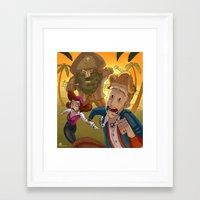 monkey island Framed Art Prints featuring Monkey Island - RUN by Gromy