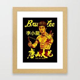 """Bruce """"The little Dragon"""" Lee By La Brea 李小龙 Framed Art Print"""