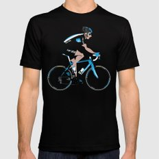 Bradley Wiggins Team Sky Black LARGE Mens Fitted Tee