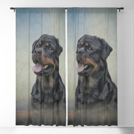 Drawing dog rottweiler 10 Blackout Curtain