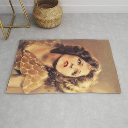 Clara Bow, Vintage Actress Rug