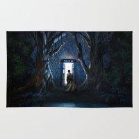 gondor Area & Throw Rugs featuring Doors Of Tardis by alifart
