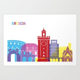 Brescia skyline pop Art Print