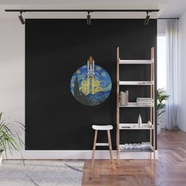 Starry Space Shuttle Wall Mural