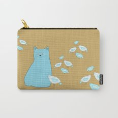 Cat and birds Carry-All Pouch