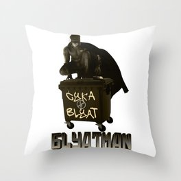 Blyatman Throw Pillow