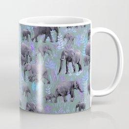 Sweet Elephants in Purple and Grey Coffee Mug