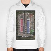 doors Hoodies featuring Dublins Doors by Christine Workman