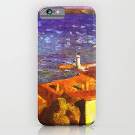 Saint Tropez, French Riviera, Côte d'Azur, France coastal landscape by Pierre Bonnard iPhone Case