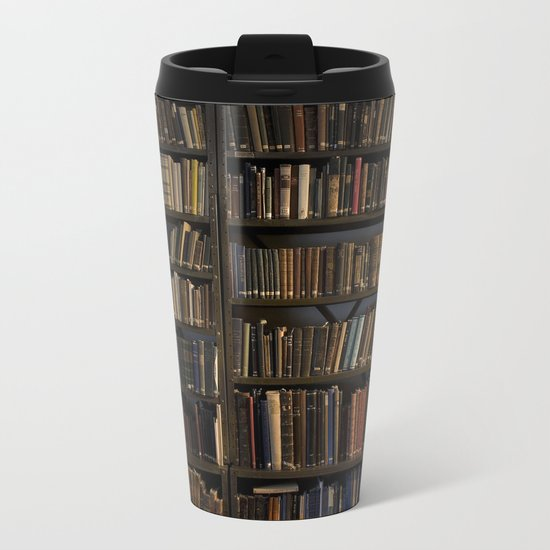Library books Metal Travel Mug