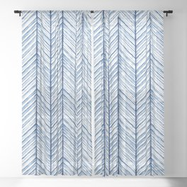 Shibori Herringbone Pattern Sheer Curtain