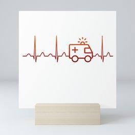 EMT Heartbeat Mini Art Print