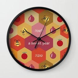 A Sweet Year Wall Clock